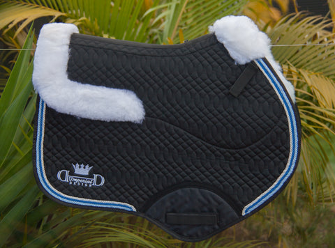 Black Deluxe Jumping Pad with Sheepskin