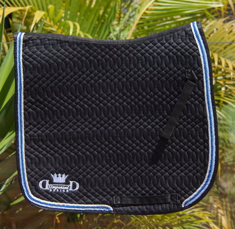 Black Elite Dressage Pad