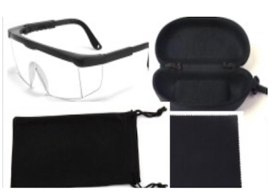 Eye Safety Protective UV Glasses w/ Carry Case
