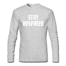 Load image into Gallery viewer, Stay Inspired Long-Sleeve - heather gray
