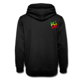 Shawl Collar Spray Logo Hoodie - black