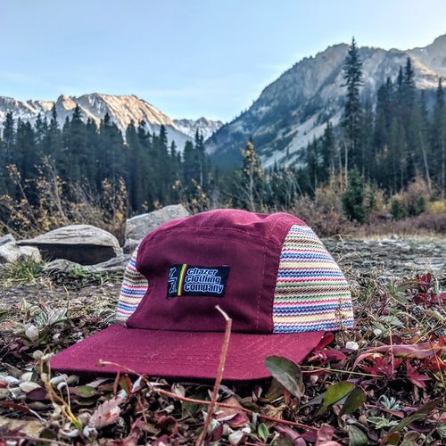 Maroon Southwest Pattern 5 Panel - (LIMITED EDITION)