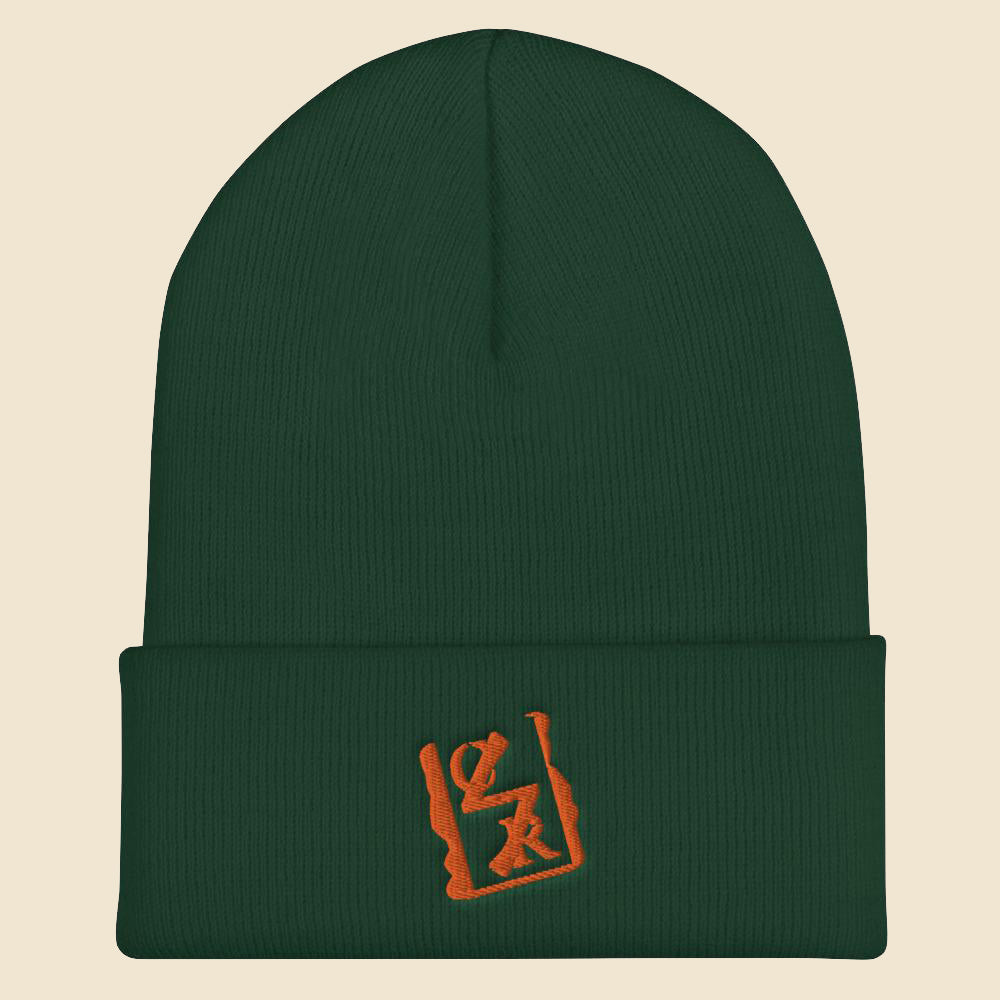 Orange Spray Logo Beanie - (Assorted Colors)