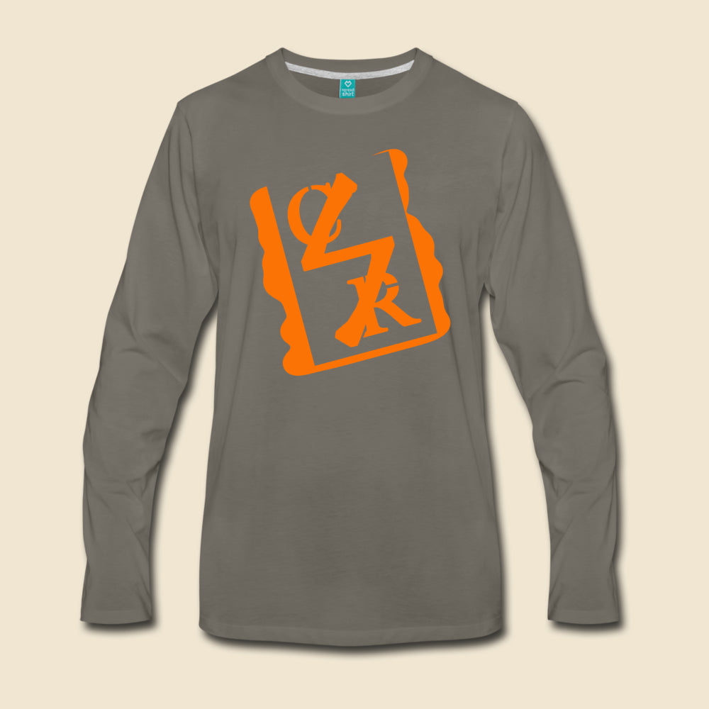 Spray Logo Long Sleeve (Orange Spray)