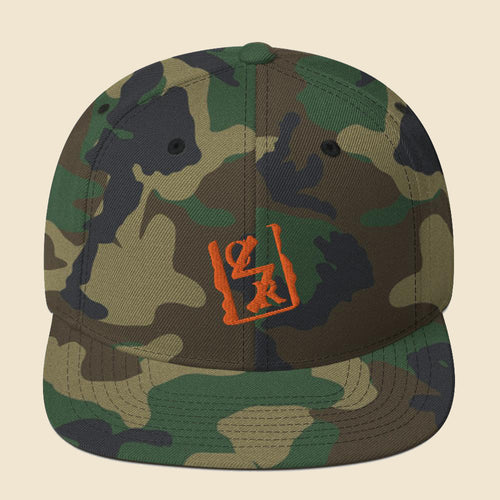 Orange Spray Logo Snapback - (Assorted Colors)