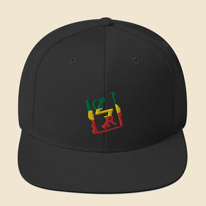 Rasta Spray Logo Snapback