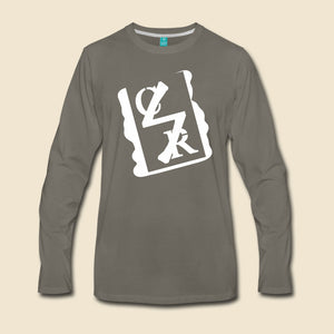 White Spray Logo Long Sleeve - (Assorted Colors)