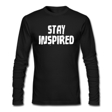 Load image into Gallery viewer, Stay Inspired Long-Sleeve - black