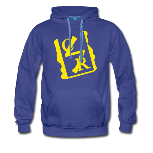Spray Logo Hoodie (Yellow Spray) - royalblue