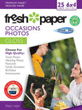 Fresh Photo Paper 180gsm Occasions Gloss 6x4 25