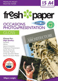 Fresh Photo Paper 180gsm Occasions Gloss A4 15