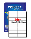 Prinzet A4 Labels 16UP (100 sheets)
