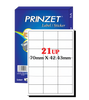 Prinzet A4 Labels 21UP (100 sheets)