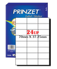 Prinzet A4 Labels 24UP (100 sheets)