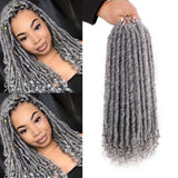 Dreads Locs Crochet tresses extension de cheveux synthétiques Kanekalon naturel