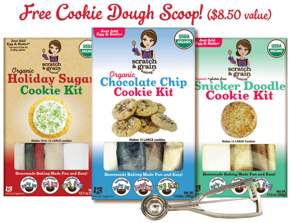 3-Pack Scout's Favorite Cookies with FREE SCOOP: The Elf on the Shelf® Holiday Sugar Cookie, Chocolate Chip, & Snicker