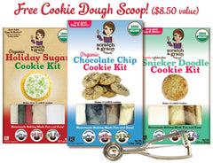 3-Pack Holiday Cookies with FREE SCOOP: Holiday Sugar Cookie, Chocolate Chip, & Snicker