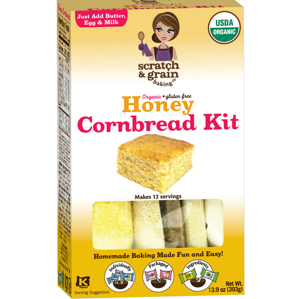 Organic Gluten Free Honey Cornbread Mix