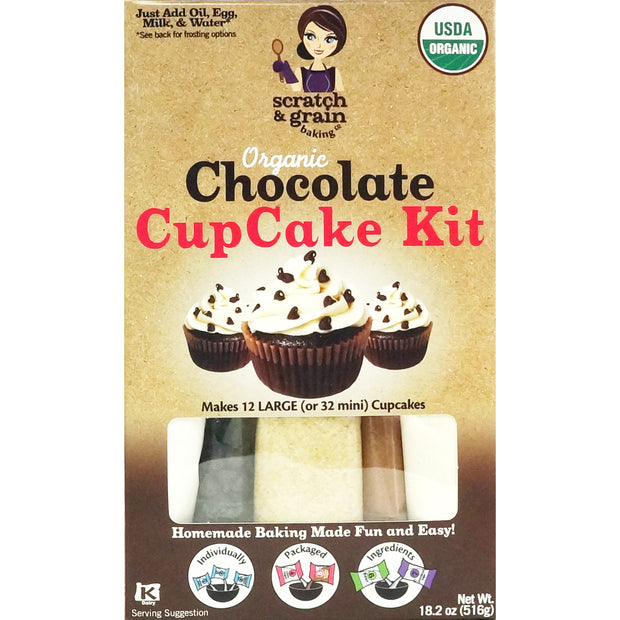 Organic Chocolate CupCake Kit