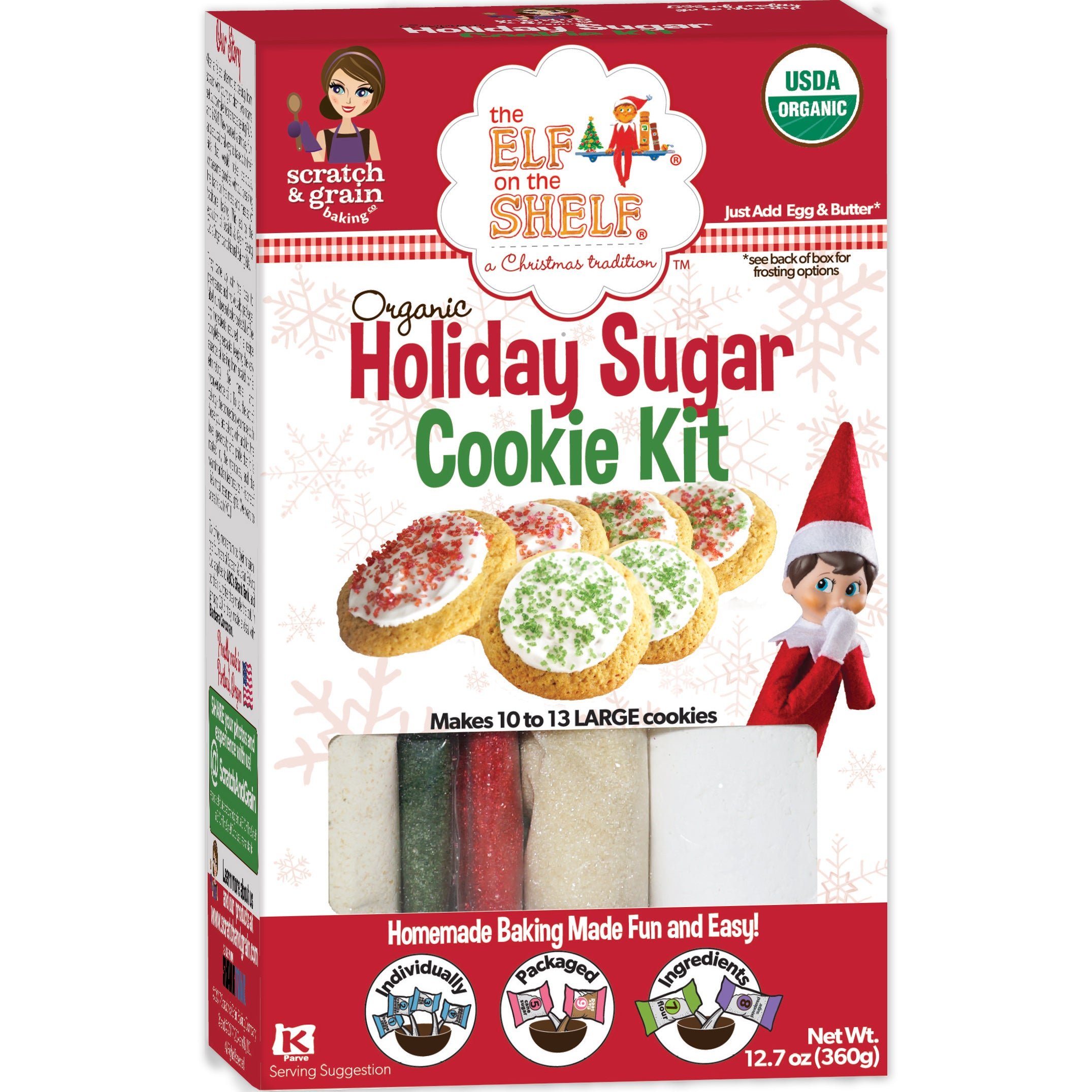 The Elf On The Shelf Organic Holiday Sugar Cookie Kit Scratch