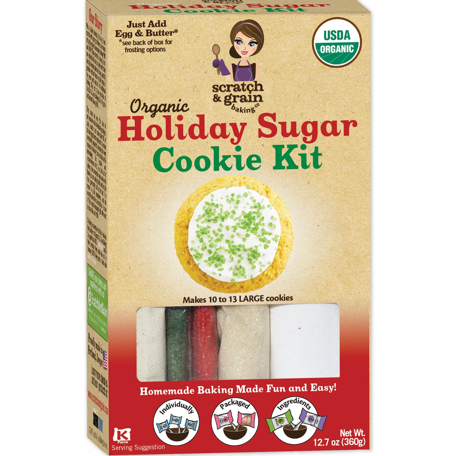 Homemade Baking Holiday Sugar Cookie Kit Scratch Grain Baking Co