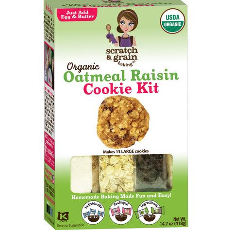 Organic Oatmeal Raisin Cookie Kit