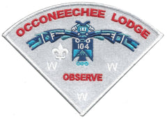"Lodge 104 ""Observe"" Pie Patch 2nd in Set"