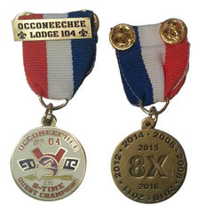 Lodge 104 8-Time Quest Champions Medal