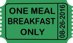 2018 Trade-O-Ree Single Meal Ticket - BREAKFAST
