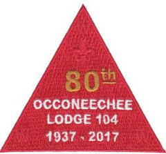 80th Anniversary Triangle Patch