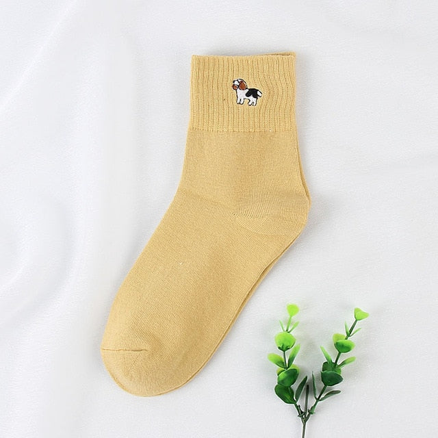 Cotton Ankle Animal Socks