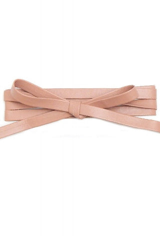 THICK LEATHER LONG WRAP AROUND CHOKER NECKLACE - NUDE - Dempsey & Gazelle
