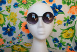 Metal Circle Sunglasses Dark Retro Hippie Glasses - Lennon - Dempsey & Gazelle  - 2