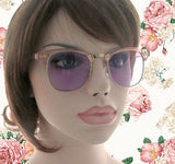 90s Purple Clubmaster Sunglasses Retro Nerdy Clear Glasses - Draper - Dempsey & Gazelle  - 2