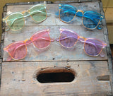 90s Purple Clubmaster Sunglasses Retro Nerdy Clear Glasses - Draper - Dempsey & Gazelle  - 1