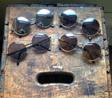 Metal Circle Sunglasses Dark Retro Hippie Glasses - Lennon - Dempsey & Gazelle  - 1