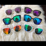 Oversized Cat Eye Mirrored Sunglasses  - Clara