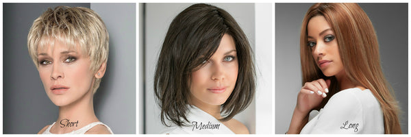Short Wigs, Medium Wigs and Long Wigs
