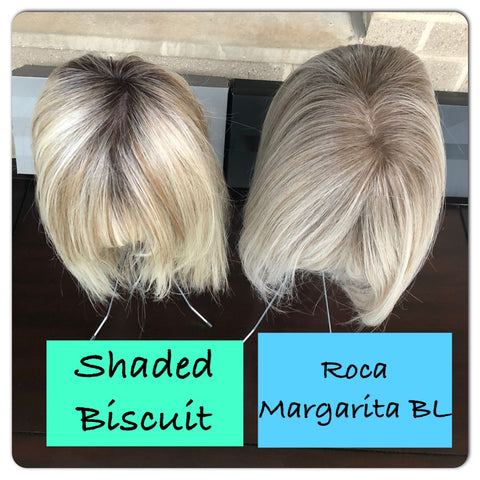 Shaded Biscuit by Raquel Welch vs Roca Margarita Blonde by BelleTress