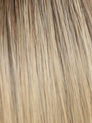 02-7 | Medium Light Chestnut Brown Dark Golden Ash Blonde with Dark Roots