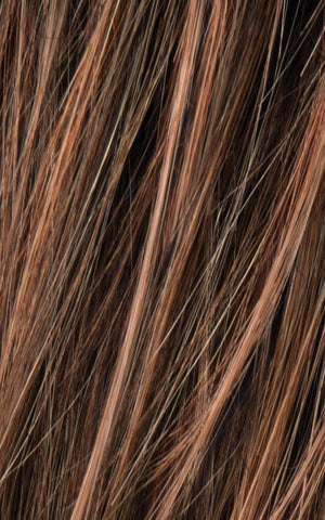 Ellen Wille Wigs | NUT BROWN ROOTED | Med Brown, blended with Med golden blonde mix and Chocolate Brown with Dark Roots