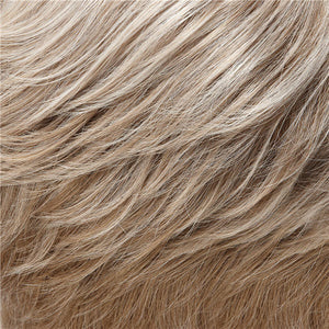 Allure Wig by Jon Renau PEARL WHITE FRONT, LIGHT BROWN W 75% GREY W PEARL WHITE TIPS NAPE (101F48T)