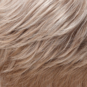 Jon Renau Wigs | 101F48T | Soft White Front, Lt Brown w/ 75% Grey Blend w/ Soft White Tips