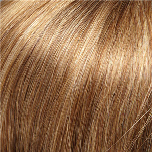 Clip in Bangs - Color LIGHT BROWN W 20% HONEY BLONDE HI-LITES (10H24B)