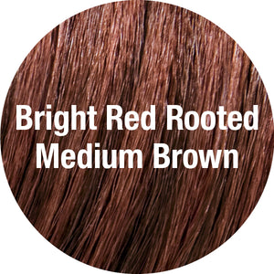 TressAllure Wigs | Bright Red Rooted Medium Brown
