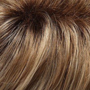 Jon Renau Wigs | 12FS8 | Medium Natural Gold Blonde, Light Gold Blonde, Pale Natural Blonde Blend, Shaded with Dark Brown