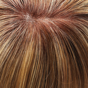 Jon Renau l 12FS8 l Shaded Praline :: Lt Gold Blonde & Pale Natural Blonde Blend, Shaded w/ Dk Brown