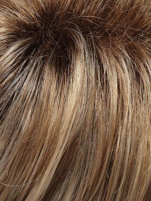 12FS8 | Light Gold Brown Light Natural Gold Blonde and Pale Natural Gold-Blonde Blend Shaded with Medium Brown