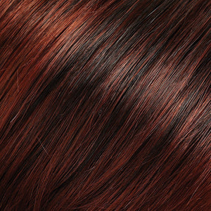Jon Renau Wigs - Color COPPER RED & DARK BROWN BLEND W COPPER RED TIPS (130/4)