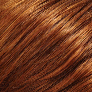 Jon Renau Wigs - Color COPPER RED AND IRISH RED BLEND (130/28)